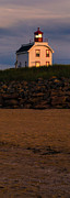 Cousins Framed Prints - Cousins Shore Lighthouse PEI Framed Print by Edward Fielding