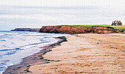 Prince Framed Prints - Cousins Shore Prince Edward Island Framed Print by Edward Fielding