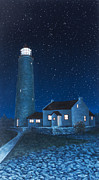 Bruce Painting Originals - Cove Island Night by Michael Marcotte