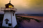 Covehead Posters - Covehead Lighthouse at Sunset Poster by Kasandra Sproson
