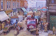 Streetscene Paintings - Covent Garden market. by Mike  Jeffries