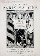 Cover For Art At The Paris Salons Print by English School