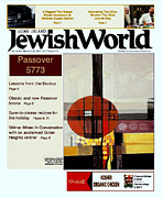 Marlene Burns Paintings - Cover of NY Jewish Newspapers by Marlene Burns