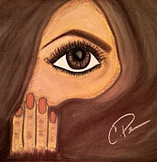 Featured Pastels Originals - Covered Beauty #4 by Chrissy  Pena