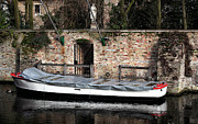 Belgium Photos - Covered Boat by John Rizzuto