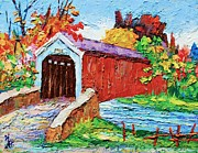 Covered Bridge Painting Metal Prints - Covered bridge 3 Metal Print by Siang Hua Wang