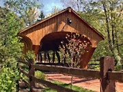 Youtube Prints - Covered Bridge At Olmsted Falls-Spring Print by Mark Madere