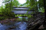 Montgomery Prints - Covered Bridge at Valley Forge in Springtime Print by Bill Cannon