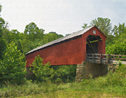 Covered Bridge Prints - Covered Bridge Print by Brian Mollenkopf