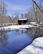 Carol Toepke Prints - Covered Bridge Print by Carol Toepke