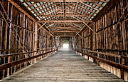 Bridge Prints - Covered Bridge Print by Cat Connor