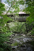 Crossing Photo Posters - Covered Bridge Cornish New Hampshire Poster by Edward Fielding