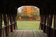 Jeff Holbrook Art - Covered Bridge in Fall by Jeff Holbrook