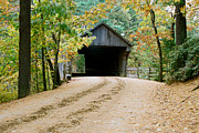 Sturbridge Village Framed Prints - Covered Bridge in October Framed Print by Vinnie Oakes