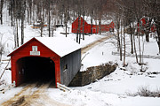 James Kirkikis - Covered Bridge in Snow