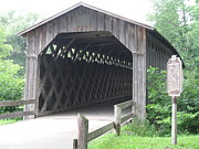 Cedarburg Posters - Covered Bridge Poster by Julie Kind