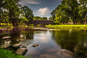 Cedar Creek Prints - Covered Bridge Long Exposure Print by Randy Scherkenbach