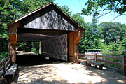 Sturbridge Village Photo Framed Prints - Covered Bridge One - Sturbridge Village Framed Print by Jacqueline M Lewis