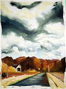 Covered Bridge Paintings - Covered Bridge Oregon by Anji Marth