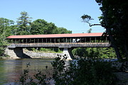 Saco River Framed Prints - Covered Bridge Over Saco River NH Framed Print by Christiane Schulze