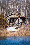 Patrick Shupert Metal Prints - Covered Bridge Metal Print by Patrick Shupert