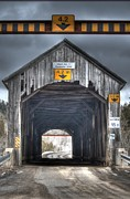Roger Lewis Framed Prints - Covered Bridge Framed Print by Roger Lewis