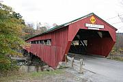 Taftsville Metal Prints - Covered Bridge -  Taftsville Metal Print by Christiane Schulze