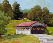 Todd Baxter Metal Prints - Covered Bridge Metal Print by Todd Baxter