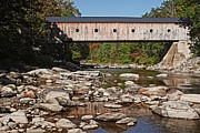 Span Framed Prints - Covered Bridge Vermont Framed Print by Edward Fielding