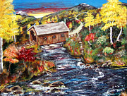 Pathway Paintings - Covered Bridge work in progress v2 by Gloria Koch