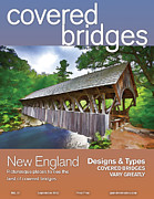 Magazine Cover Digital Art - Covered Bridges Magazine by John Haldane