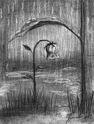 Raining Drawings - Covered In Prayer by J Ferwerda