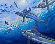 Striped Marlin Prints - Covered Up Off0035 Print by Carey Chen