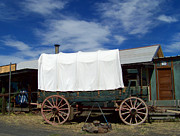 Conestoga Wagon Photos - Covered Wagon at Shaniko by Charles Robinson