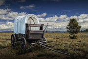 Randall Nyhof - Covered Wagon in the Grand Tetons