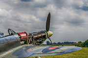 World War 2 Aviation Prints - Covers Off Hawker Hurricane Print by Chris Thaxter