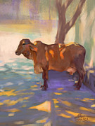 Dappled Light Posters - Cow Poster by Aviral Jha