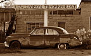Trading Post Framed Prints - Cow Canyon Trading Post 1949 Framed Print by David Lee Thompson
