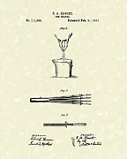 Milking Art - Cow Milker 1871 Patent Art by Prior Art Design