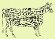 Childs Room Prints - Cow Print Print by Heather Applegate