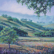 Mountain Valley Pastels - Cow Trails by Denise Horne-Kaplan