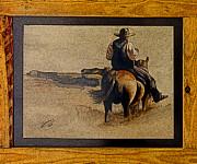 Cowboy Art By L. Sanchez Print by Al Bourassa