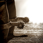 Cowboy Boots Art - Cowboy Boots and Riding Spurs by Olivier Le Queinec
