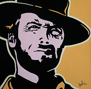 Clint Eastwood Art Paintings - Cowboy Clint by Ian  King