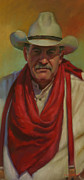 Suspenders Painting Posters - Cowboy Poster by Connie Reilly