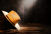 Ranch Posters - Cowboy Hat in Sunlight Poster by Olivier Le Queinec