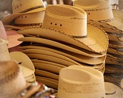 Straw Hats Photos - Cowboy Hats by Terry Fleckney