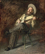 Famous Artists - Cowboy Singing by Thomas Eakins