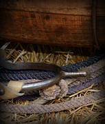 Western Wear Photos - Cowboy Spur on Rope by Paul Ward
