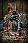 Cowboy Hat Photos - Cowboy - When I Grow Up by Paul Ward
